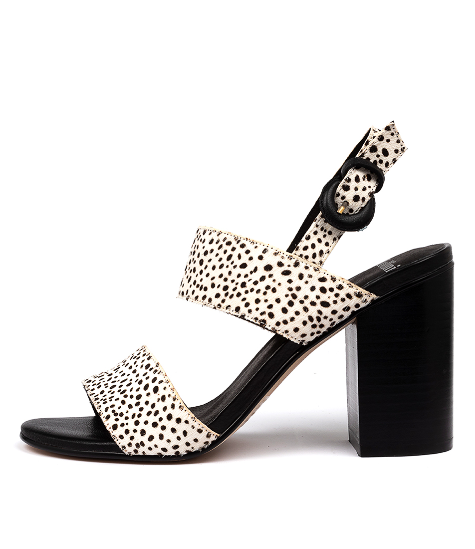 Buy Mollini Oline Black & White Heeled Sandals online with free shipping
