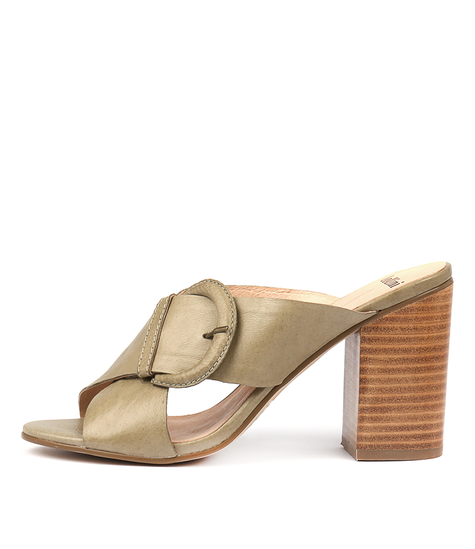Buy Mollini Osie Khaki Heeled Sandals online with free shipping