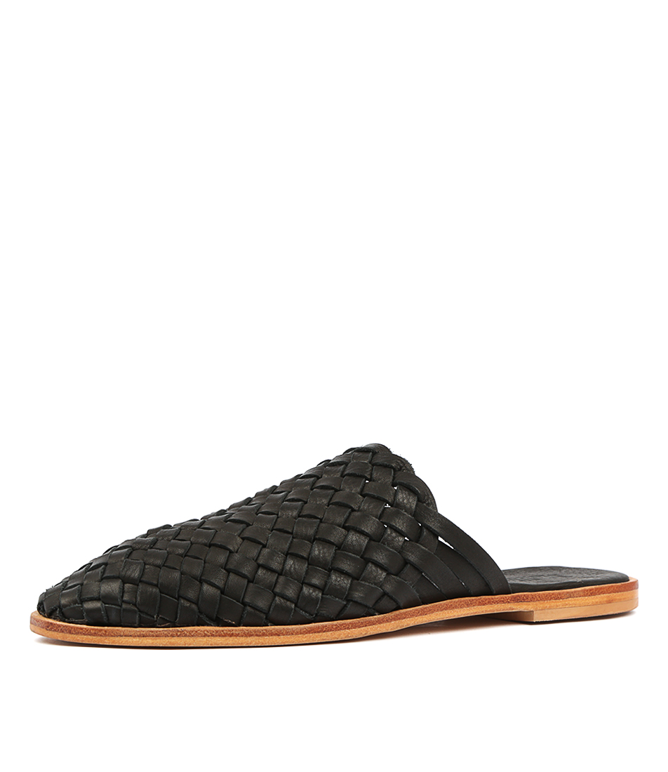 New-Mollini-Luella-Black-Leather-Womens-Shoes-Casual-Shoes-Flat