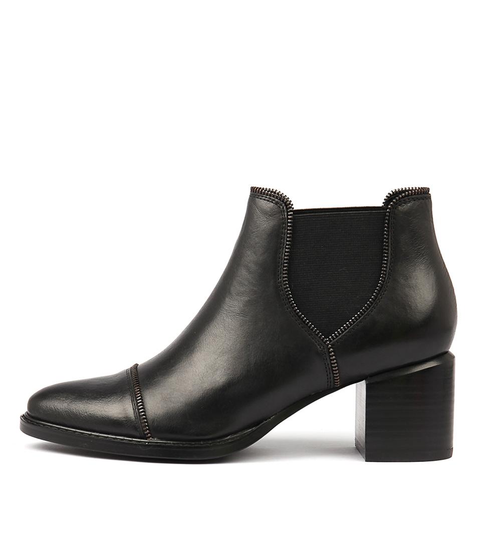 Mollini Isle Black Dress Ankle Boots
