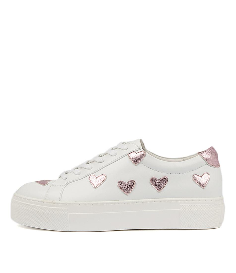 Mollini Duende White Pink Meta Sneakers