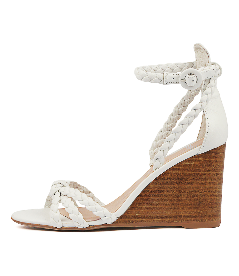 Buy Mollini Emry White Natural H Heeled Sandals online with free shipping