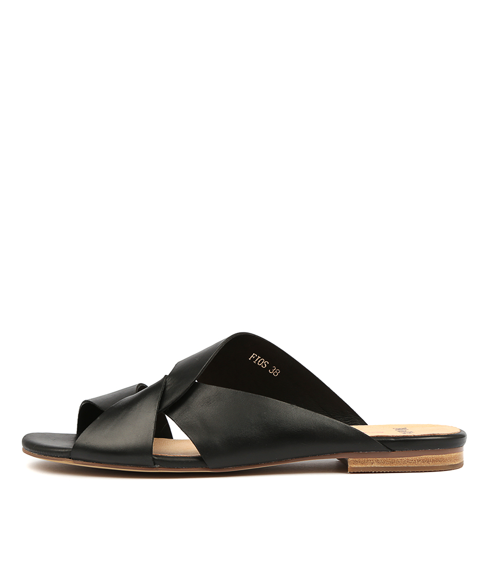 Buy Mollini Fios Black Flat Sandals online with free shipping
