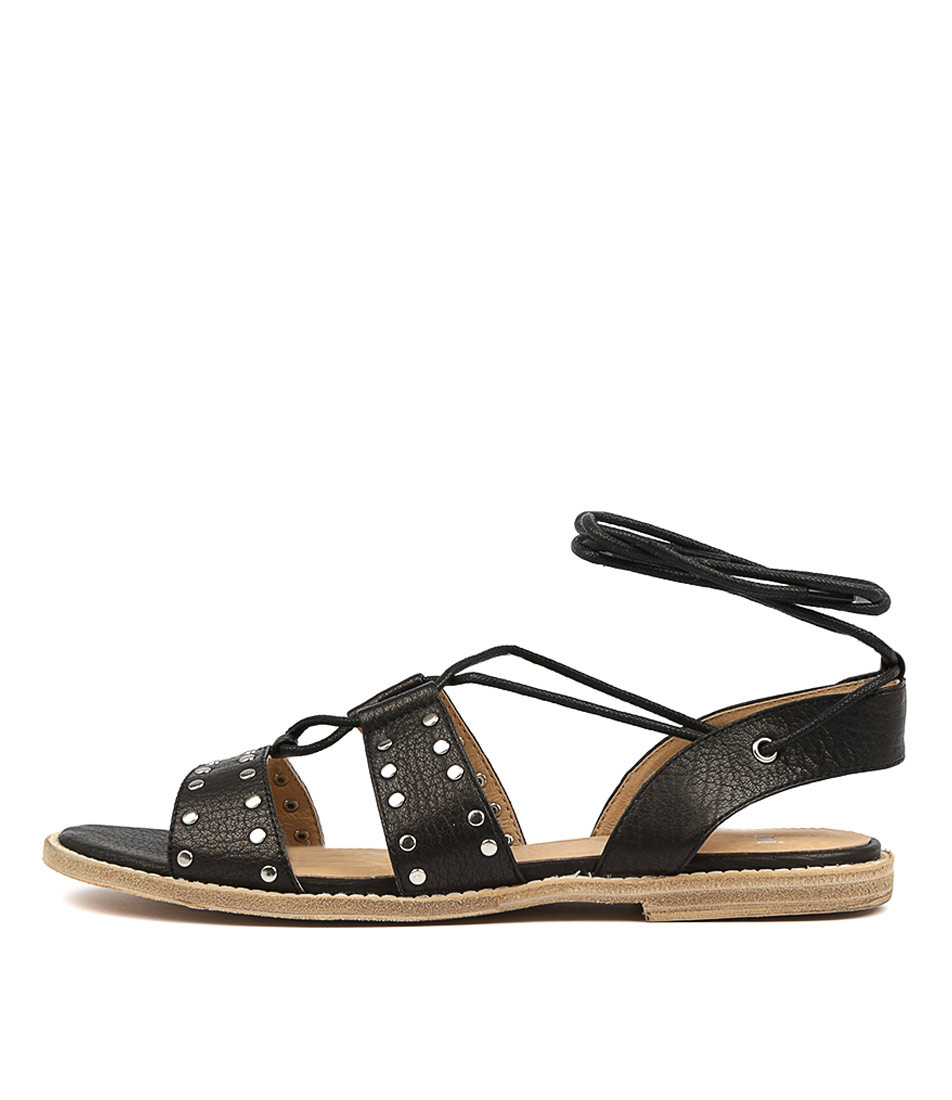 Buy Mollini Neleo Black Flat Sandals online with free shipping