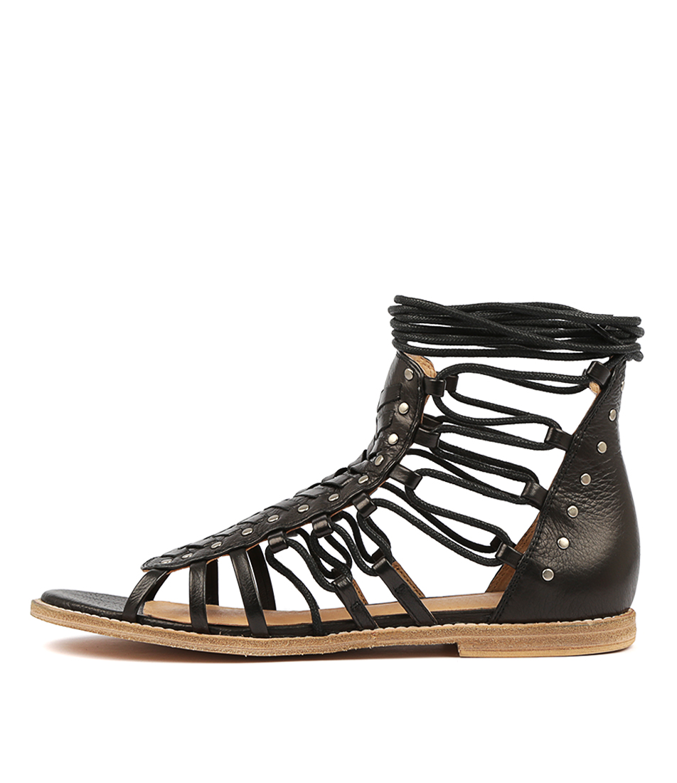 Buy Mollini Nelsien Black Flat Sandals online with free shipping