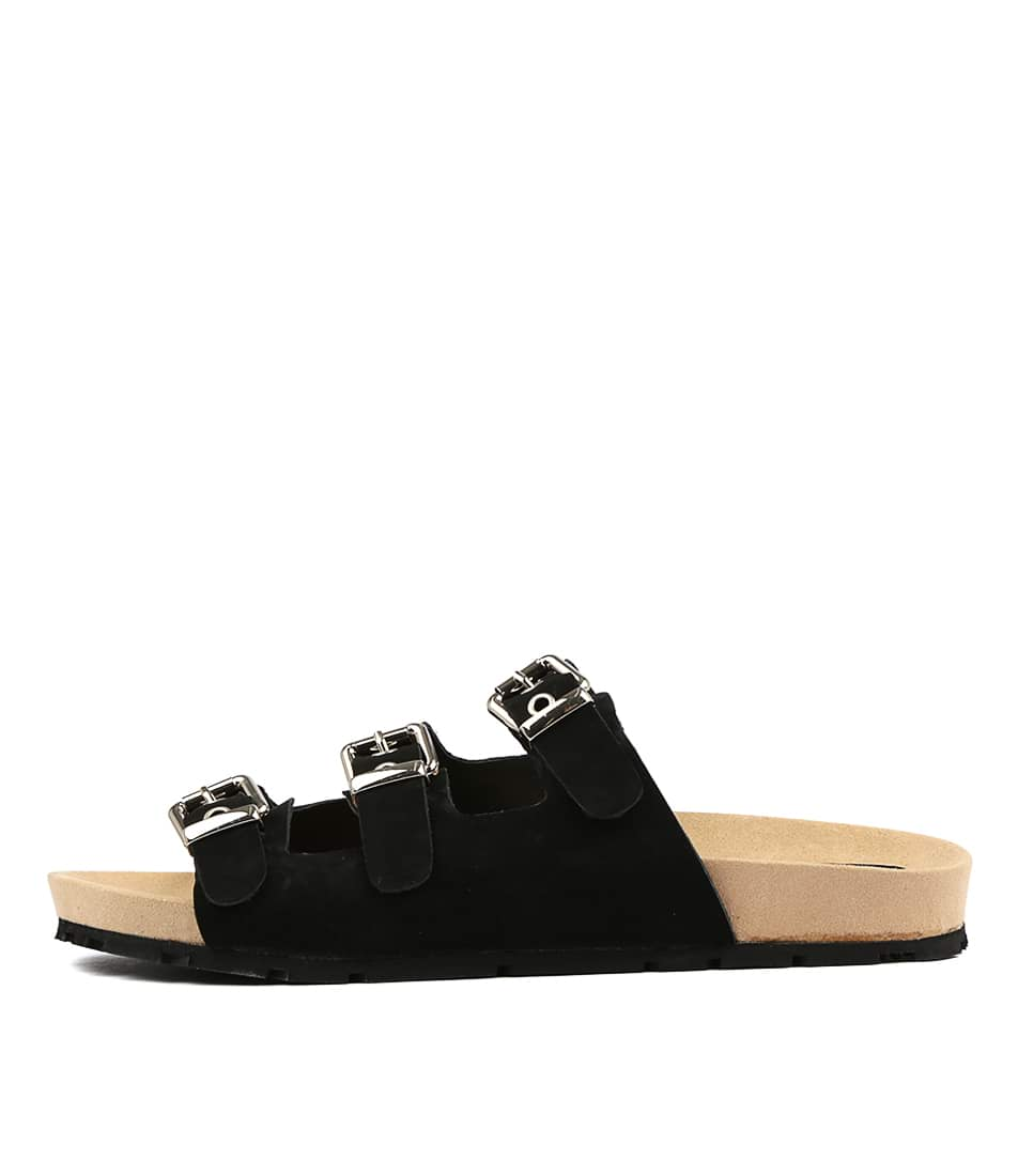 Buy Mollini Ninnie Black Flat Sandals online with free shipping