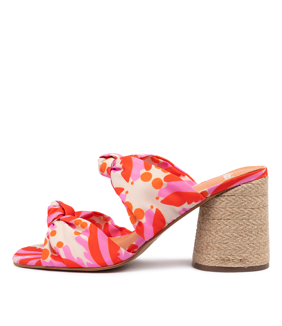 Buy Mollini Noela Bright Abstract Heeled Sandals online with free shipping