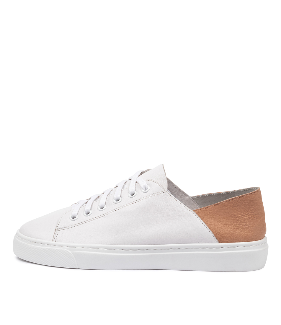 Buy Mollini Oskher White Dk Nude Sneakers online with free shipping