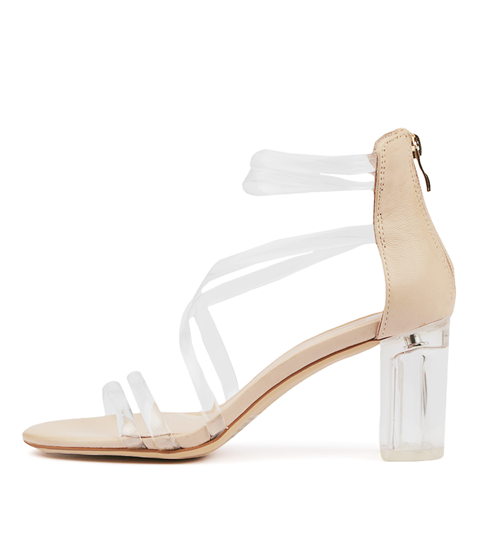 Buy Mollini Pershina Clear Nude Heeled Sandals online with free shipping