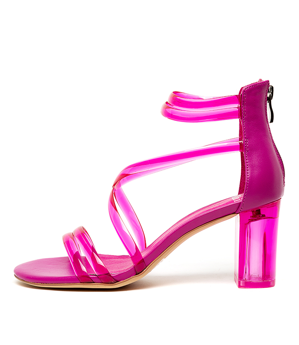 Buy Mollini Pershina Neon Pink Heeled Sandals online with free shipping