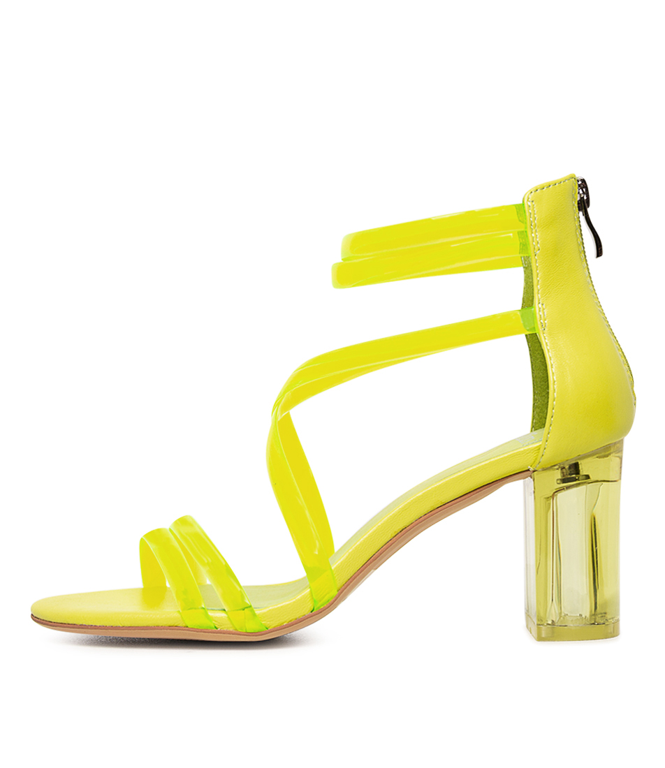 Buy Mollini Pershina Neon Yellow Heeled Sandals online with free shipping