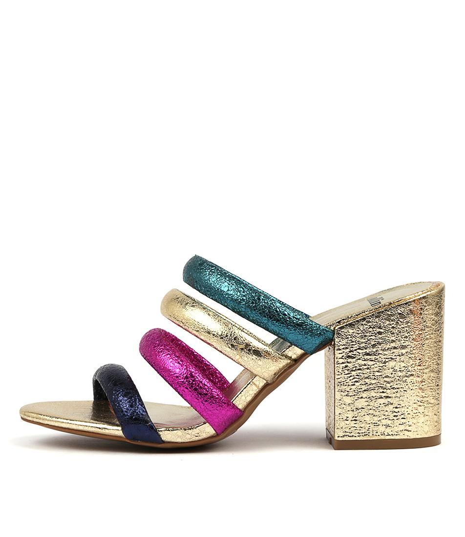 Buy Mollini Tondash Bright Metallic Multi Heeled Sandals online with free shipping
