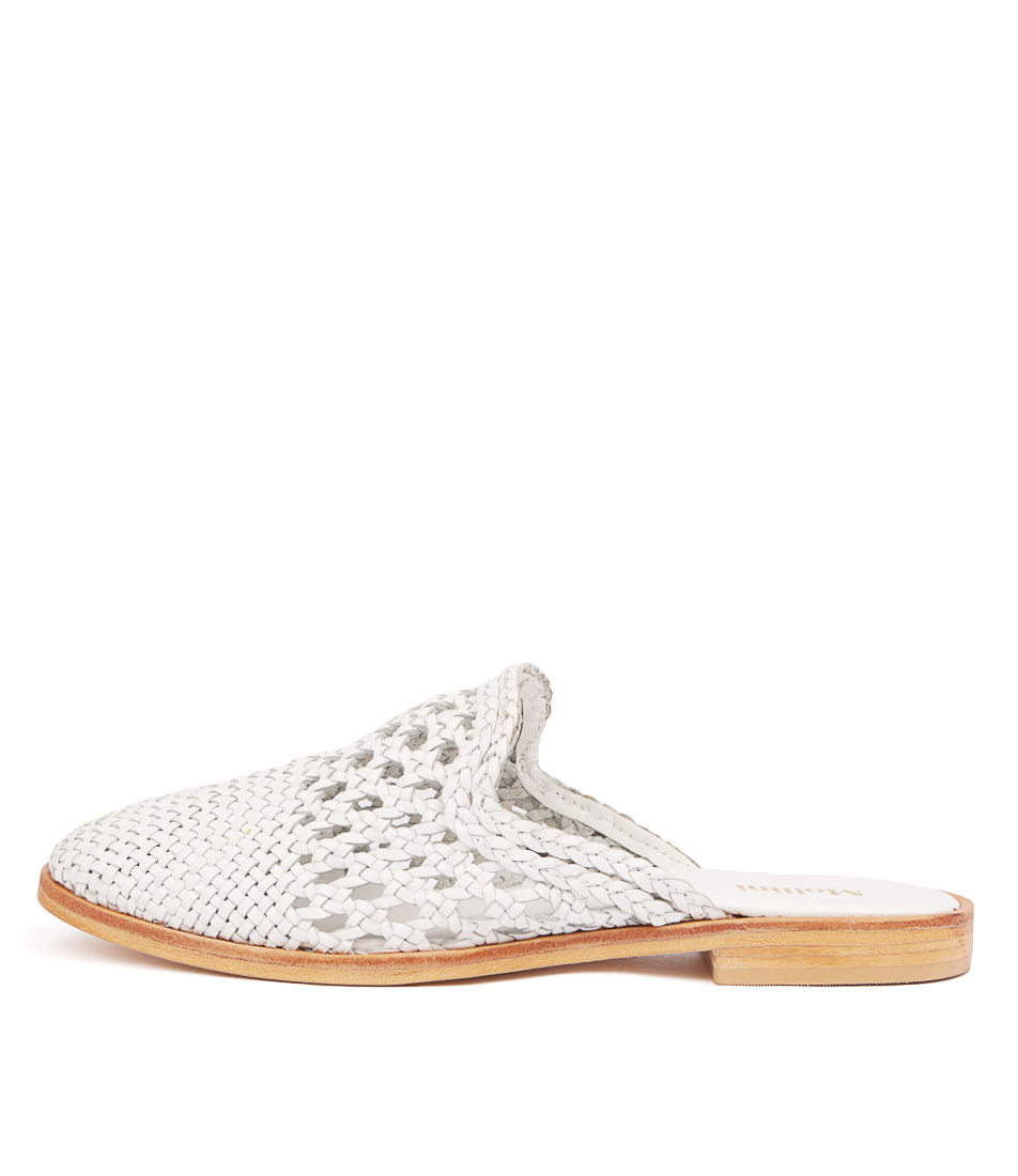 Buy Mollini River Mo White Flats online with free shipping