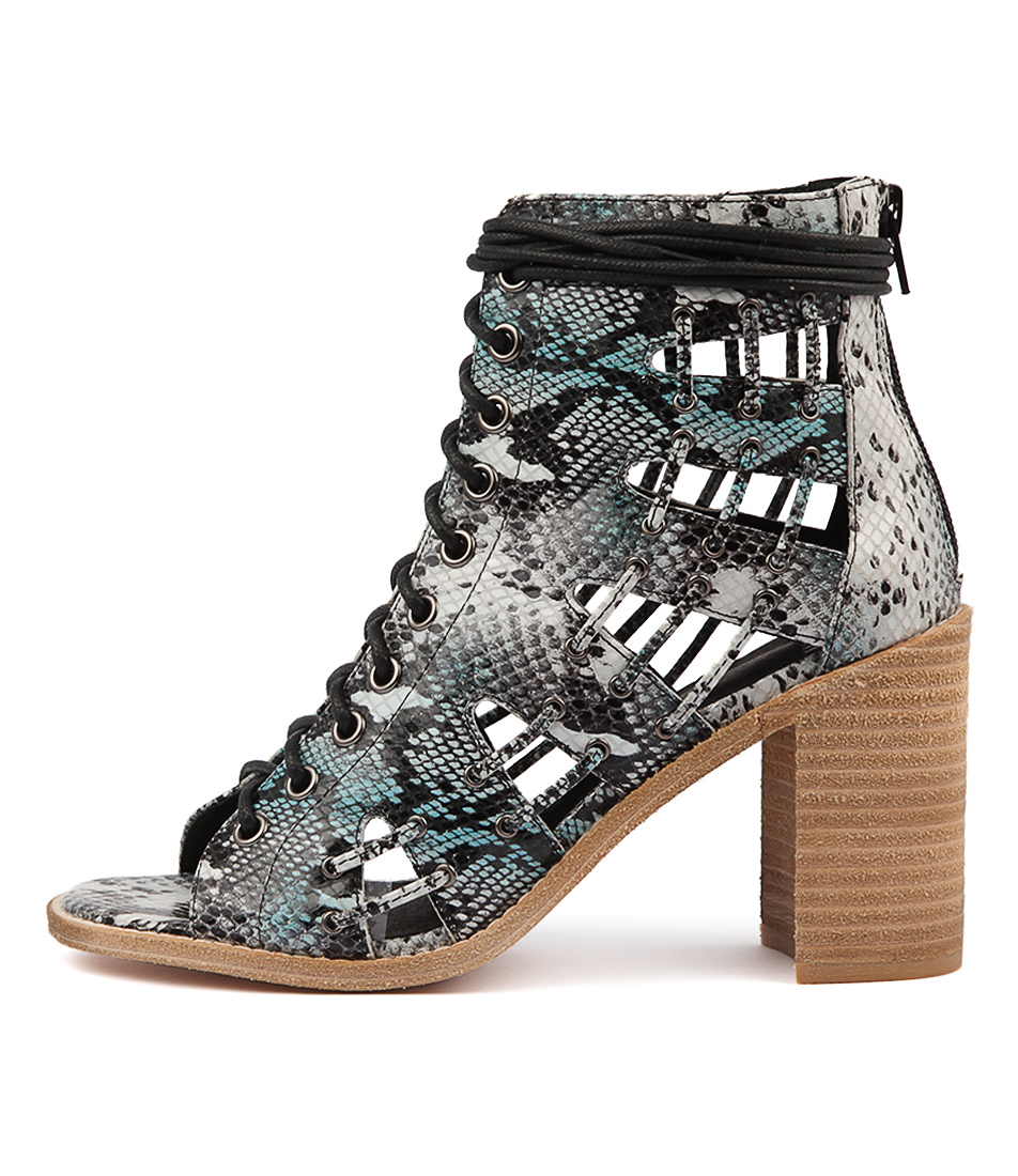 Buy Mollini Jayman Snk Blue Multi Heeled Sandals online with free shipping