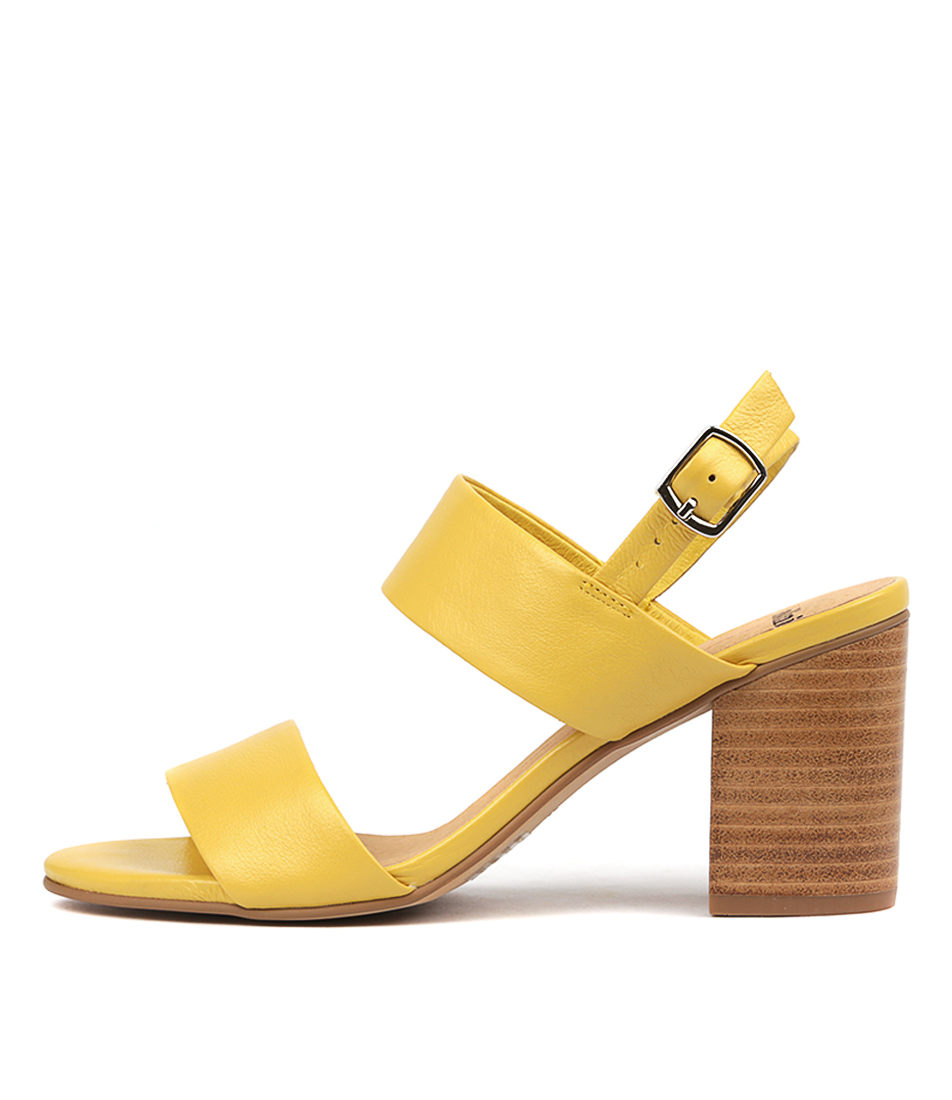 Buy Mollini Addiss Yellow Heeled Sandals online with free shipping