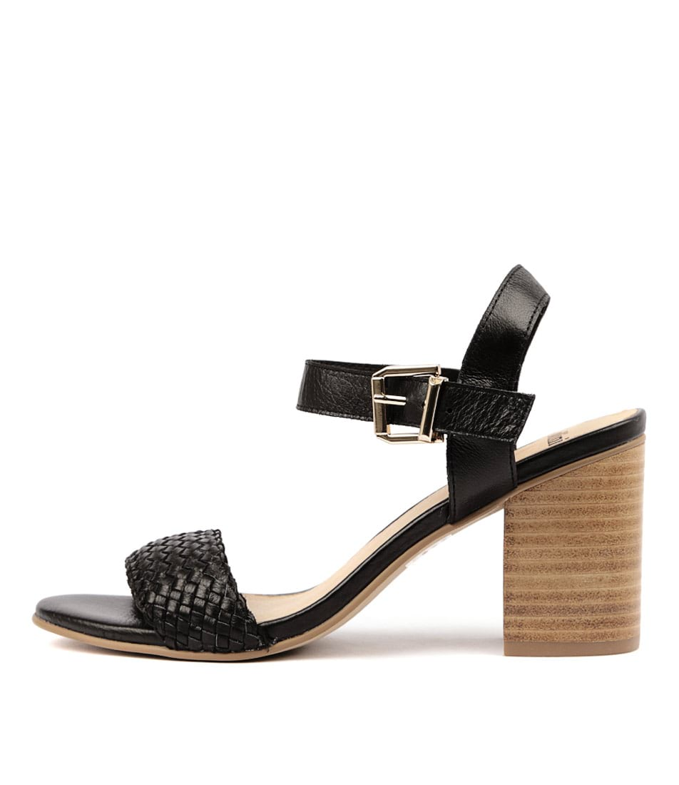Buy Mollini Ailie Black Natural Heeled Sandals online with free shipping