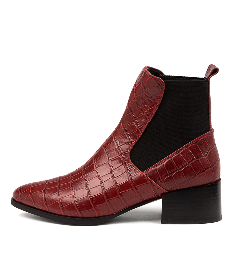 Buy Mollini Darius Wine Ankle Boots online with free shipping