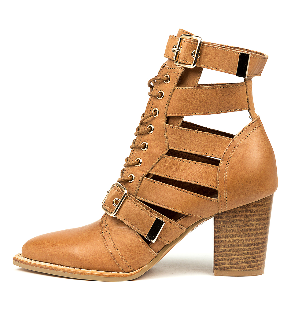 Buy Mollini Lindsaya Dk Tan Ankle Boots online with free shipping