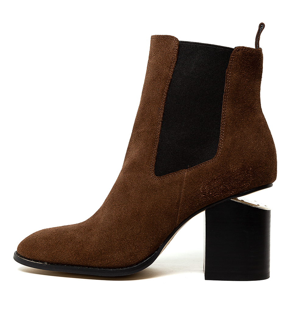 Buy Mollini Vontell Choc Ankle Boots online with free shipping