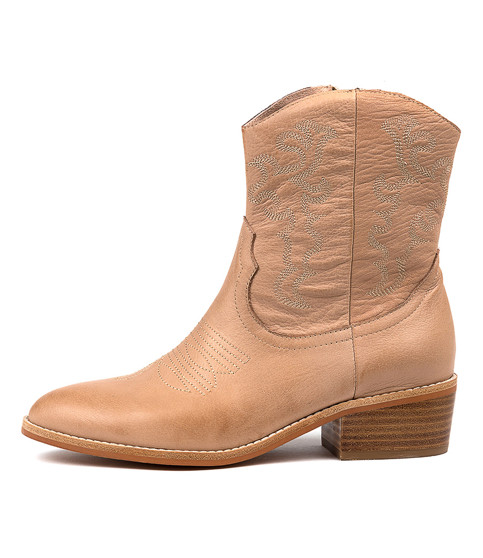 Buy Mollini Zofie Latte Latte Emb Ankle Boots online with free shipping