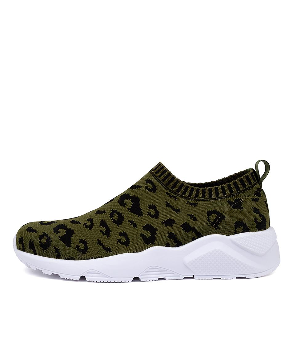 Buy Mollini Honies Khaki Ocelot Sneakers online with free shipping