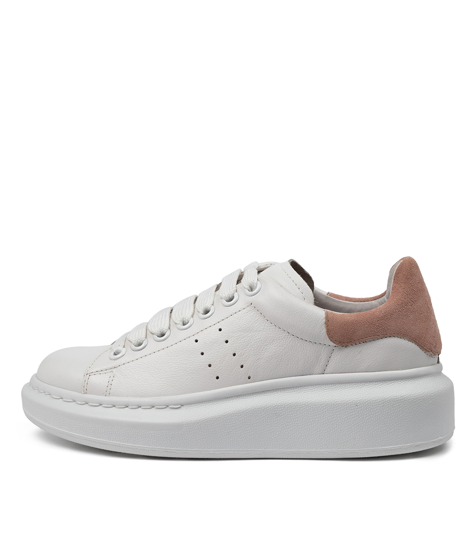Buy Mollini Howell White Pale Pink Sneakers online with free shipping
