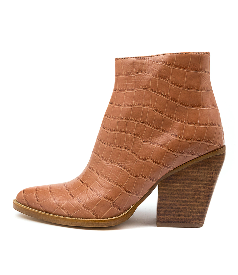 Buy Mollini Maye Lt Tan Ankle Boots online with free shipping