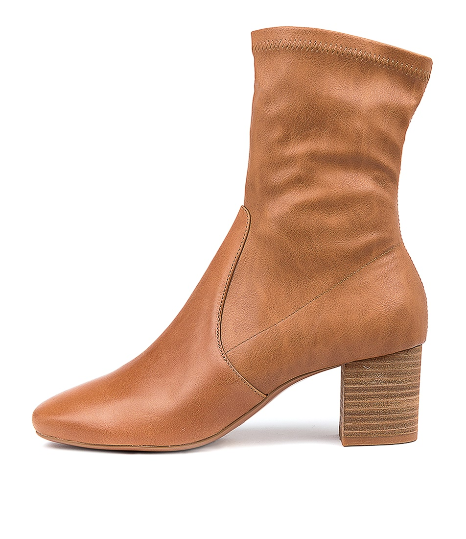 Buy Mollini Cabre Mo Dk Tan Ankle Boots online with free shipping