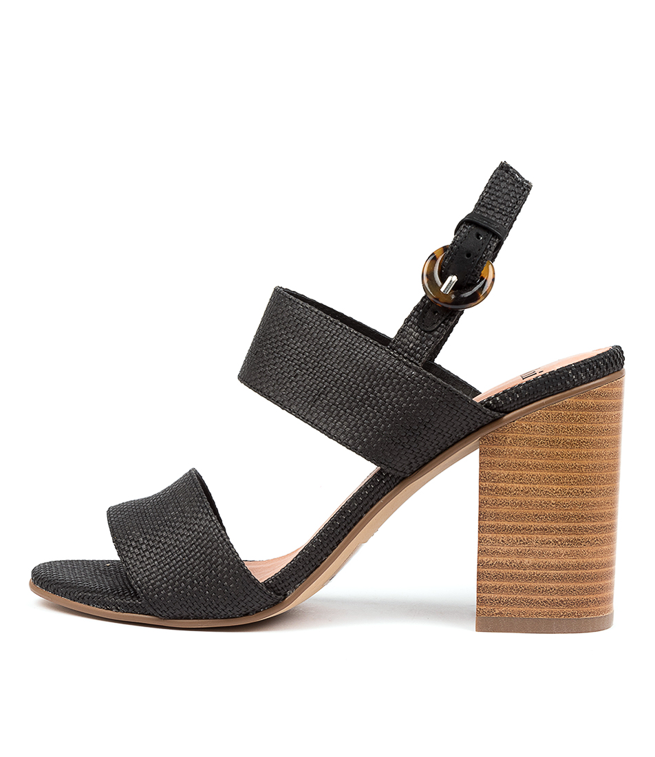 Buy Mollini Ogosh Mo Black Natural Heel Heeled Sandals online with free shipping
