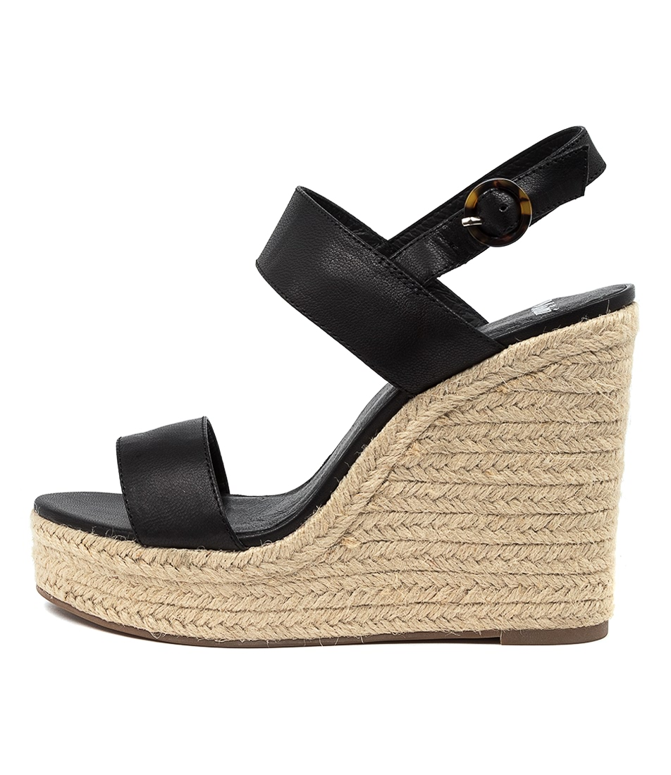 Buy Mollini Ketty Mo Black Natural R Heeled Sandals online with free shipping
