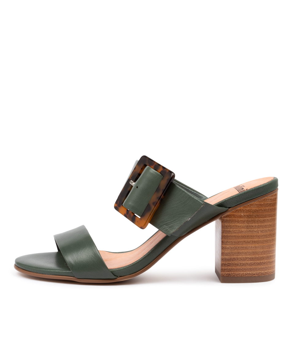 Buy Mollini Allana Mo Deep Green Heeled Sandals online with free shipping