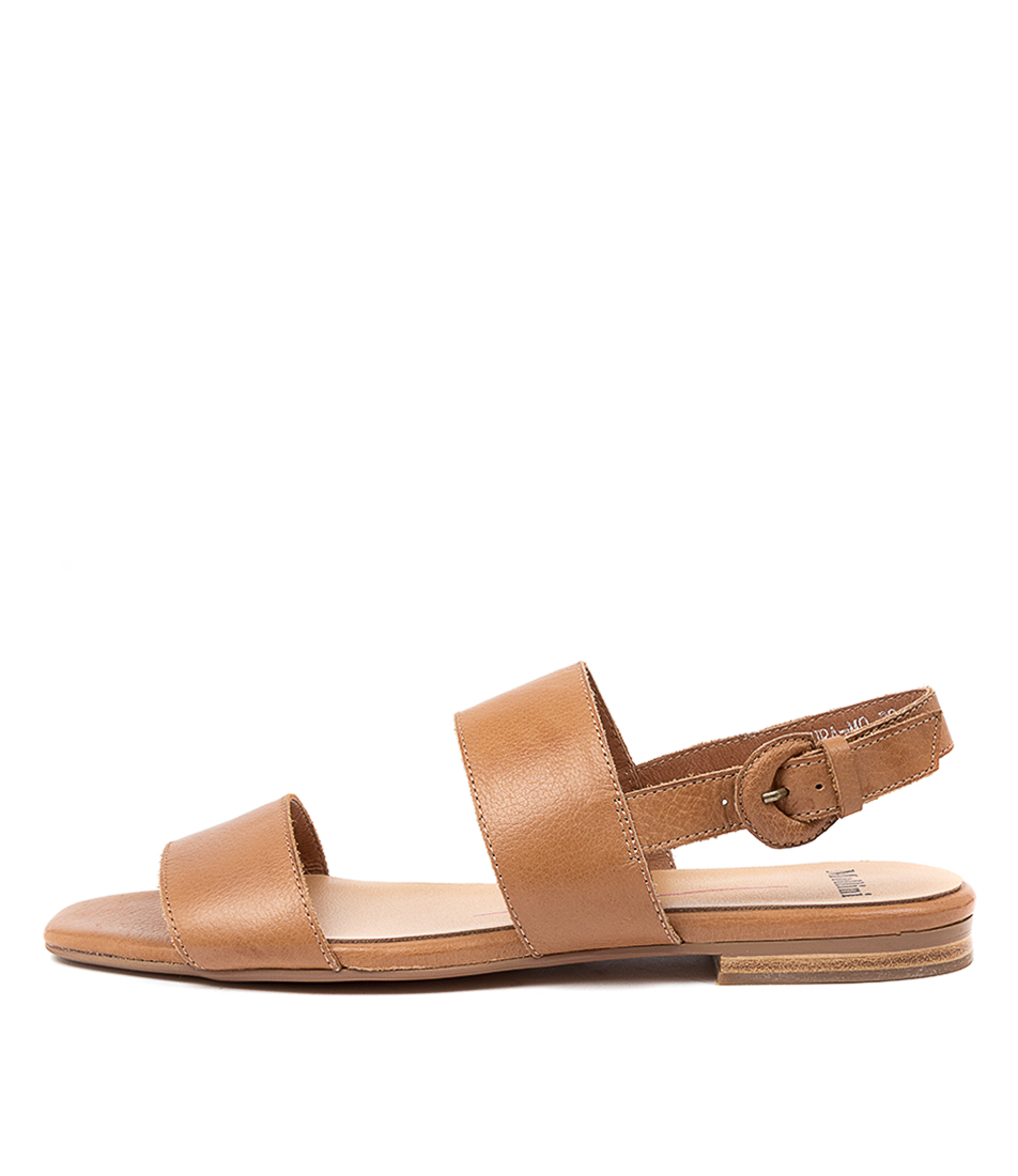 Buy Mollini Alaura Mo Dk Tan Flat Sandals online with free shipping
