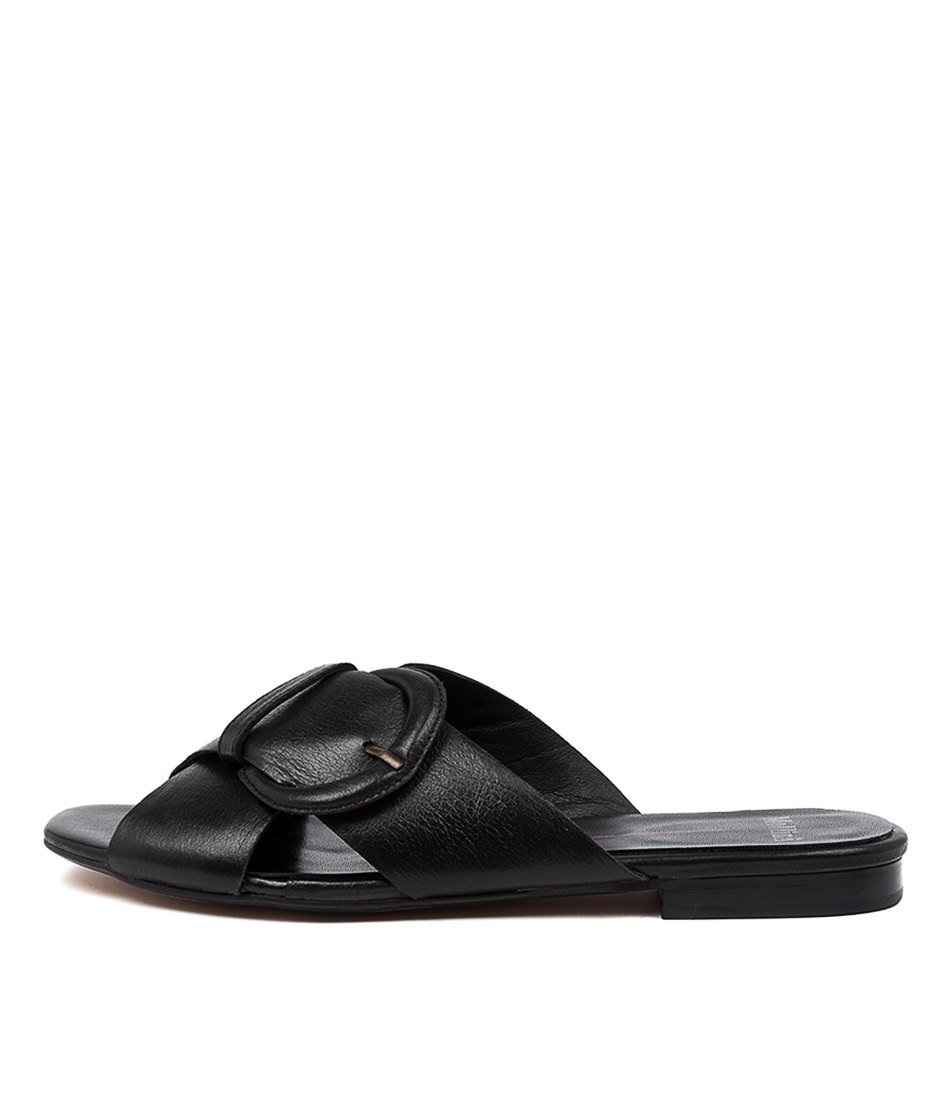 Buy Mollini Aysie Mo Black Flat Sandals online with free shipping