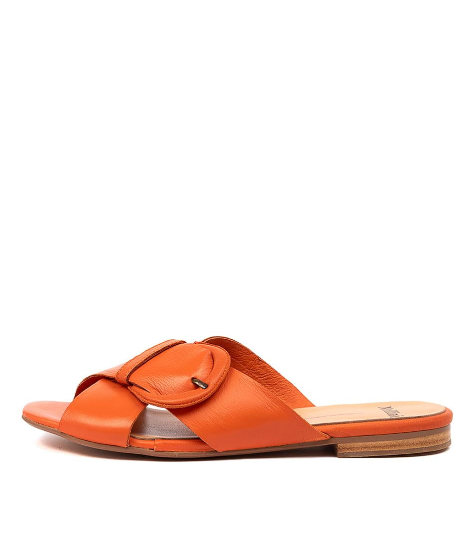 Buy Mollini Aysie Mo Tangerine Flat Sandals online with free shipping