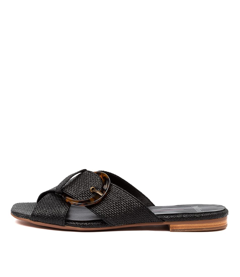 Buy Mollini Aysory Mo Black Flat Sandals online with free shipping