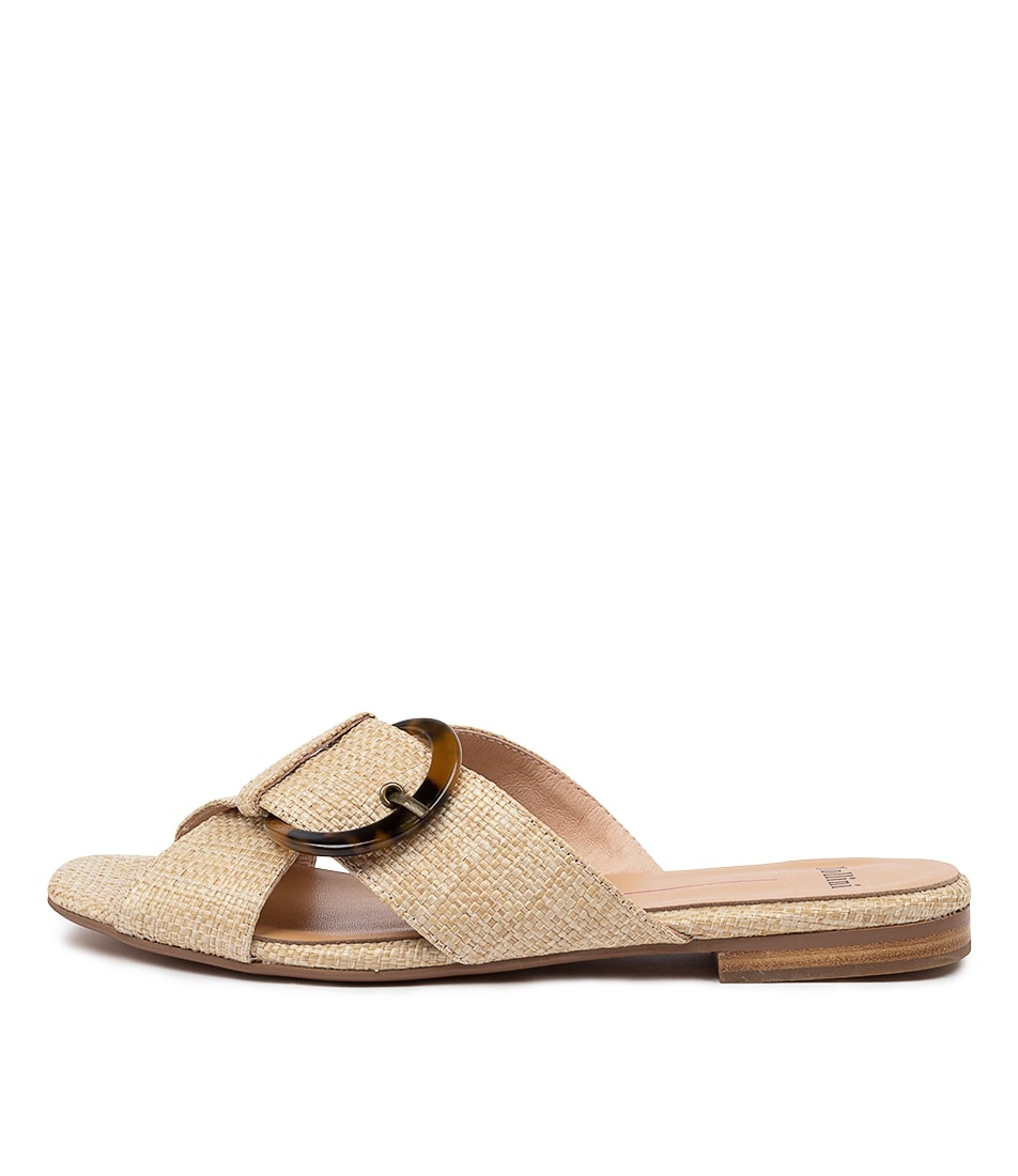 Buy Mollini Aysory Mo Natural Flat Sandals online with free shipping
