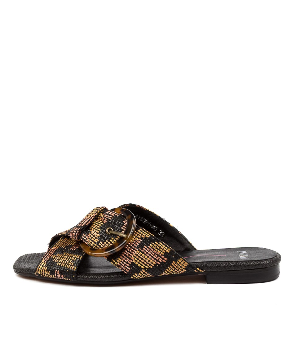 Buy Mollini Aysory Mo Tan Multi Flat Sandals online with free shipping