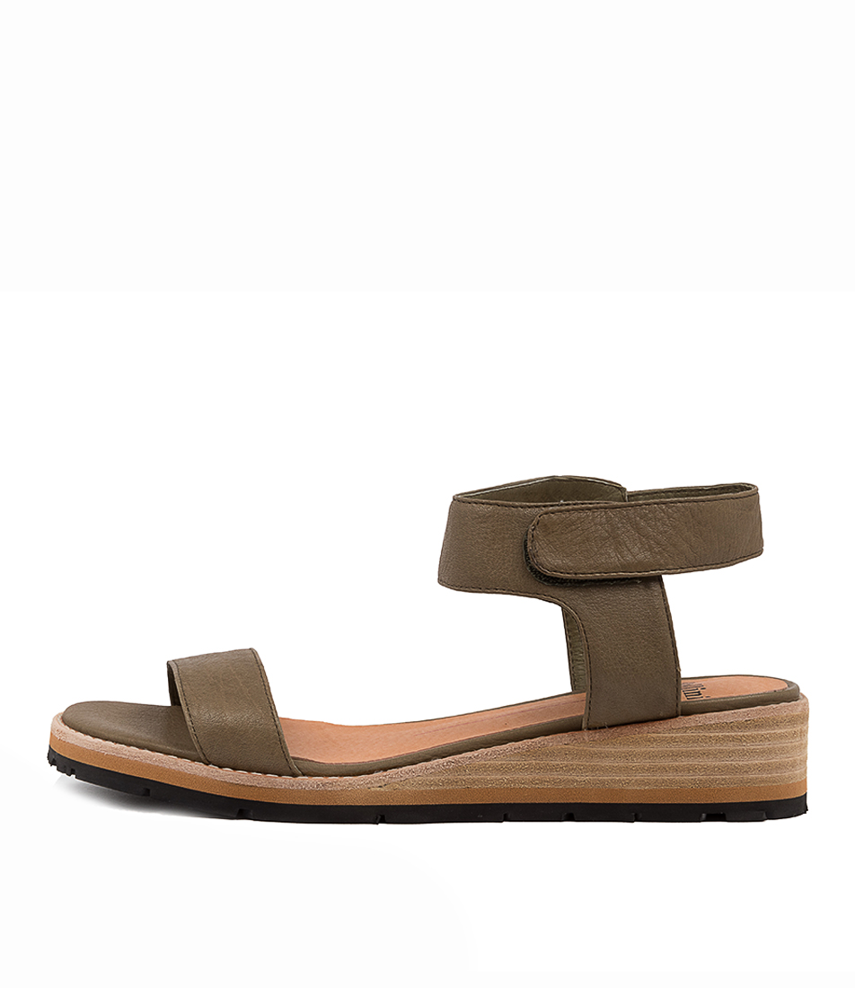 Buy Mollini Bluesea Mo Olive Flat Sandals online with free shipping