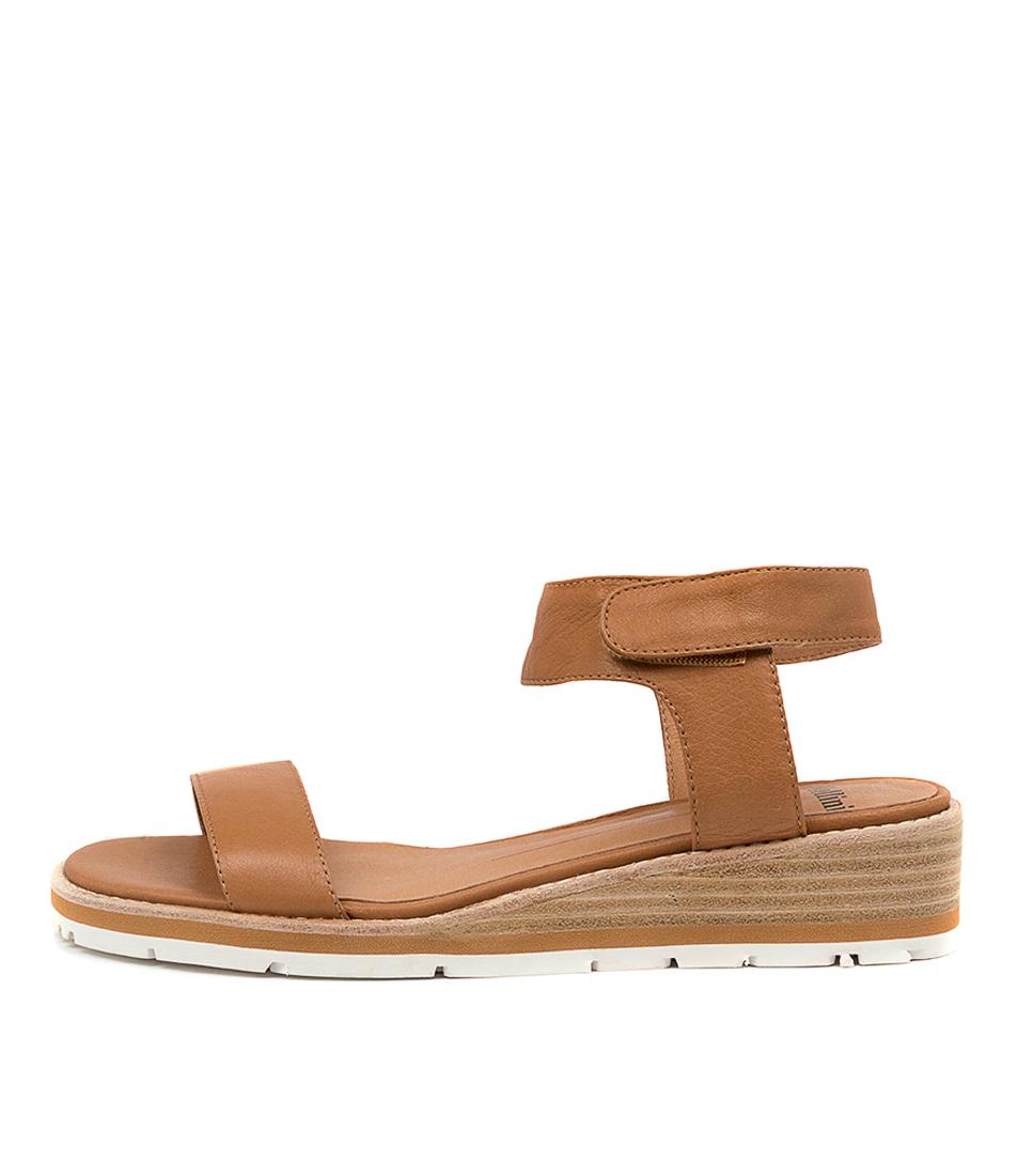 Buy Mollini Bluesea Mo Dk Tan Flat Sandals online with free shipping