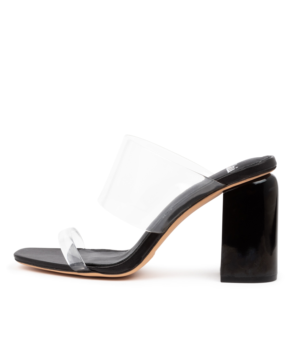 Buy Mollini Doral Mo Clear Black Heeled Sandals online with free shipping