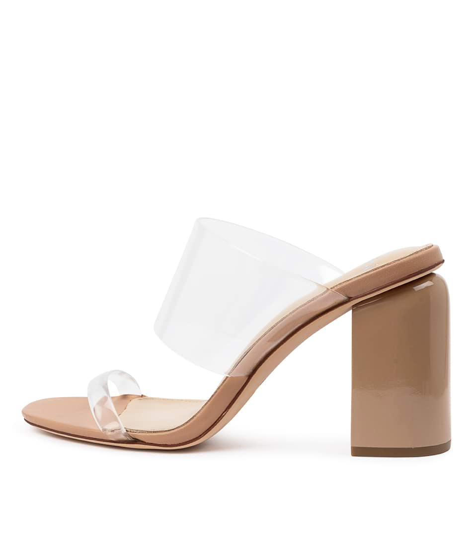 Buy Mollini Doral Mo Clear Nude Heeled Sandals online with free shipping