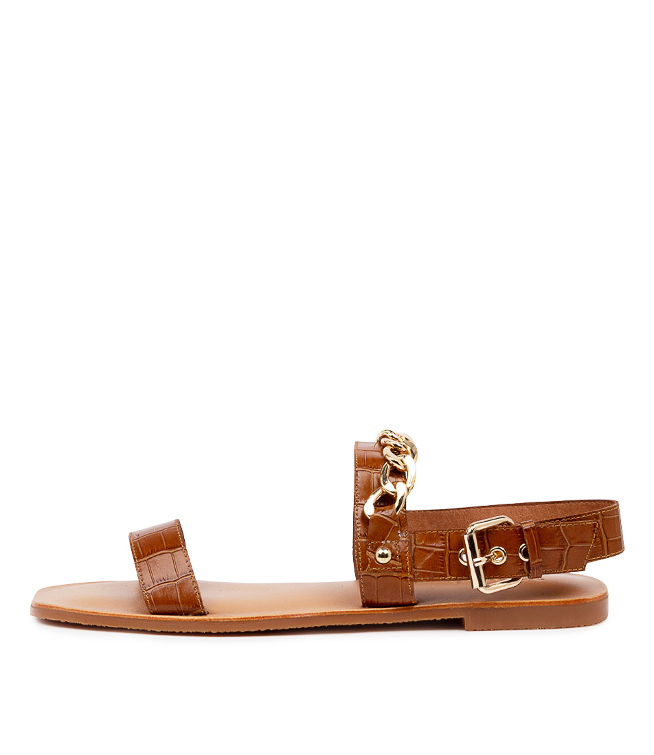 Buy Mollini Edason Mo Tan Flat Sandals online with free shipping