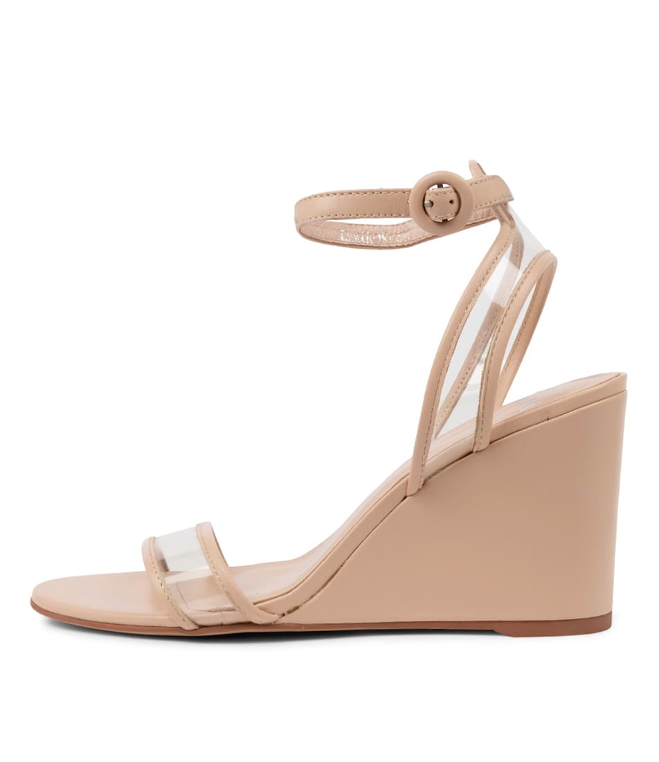 Buy Mollini Emmia Mo Nude Clear Heeled Sandals online with free shipping