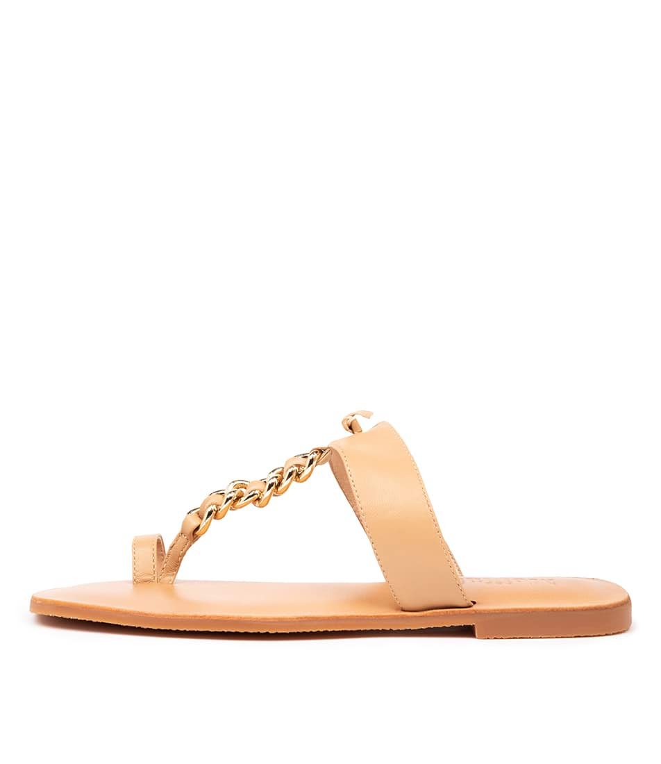 Buy Mollini Emory Mo Nude Flat Sandals online with free shipping