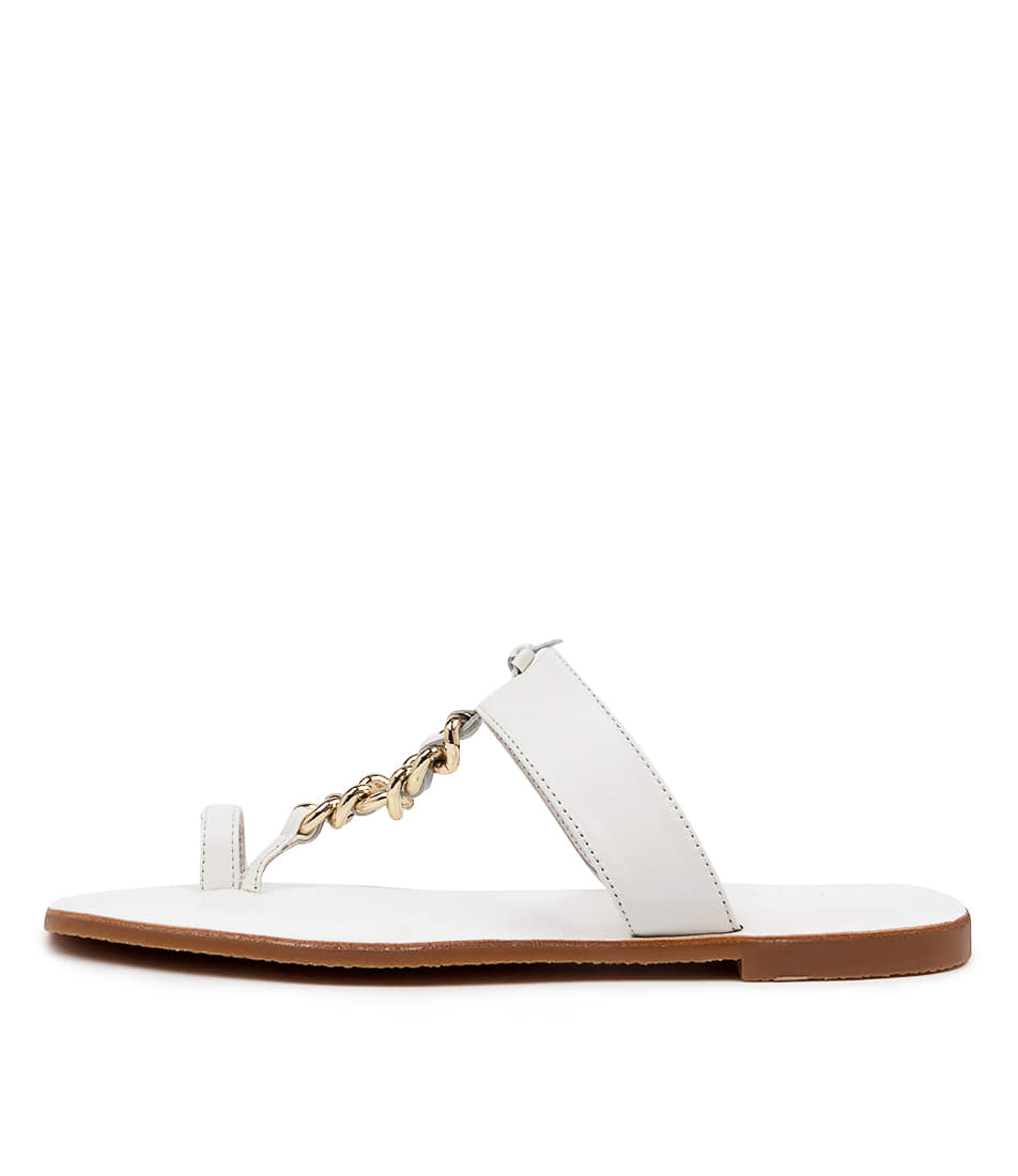 Buy Mollini Emory Mo White Flat Sandals online with free shipping