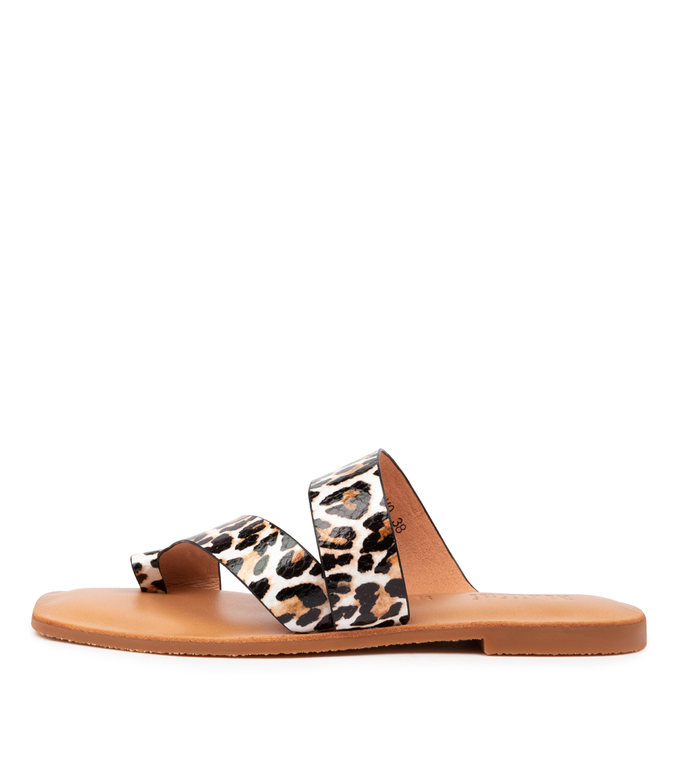 Buy Mollini Entony Mo Ocelot Print Flat Sandals online with free shipping