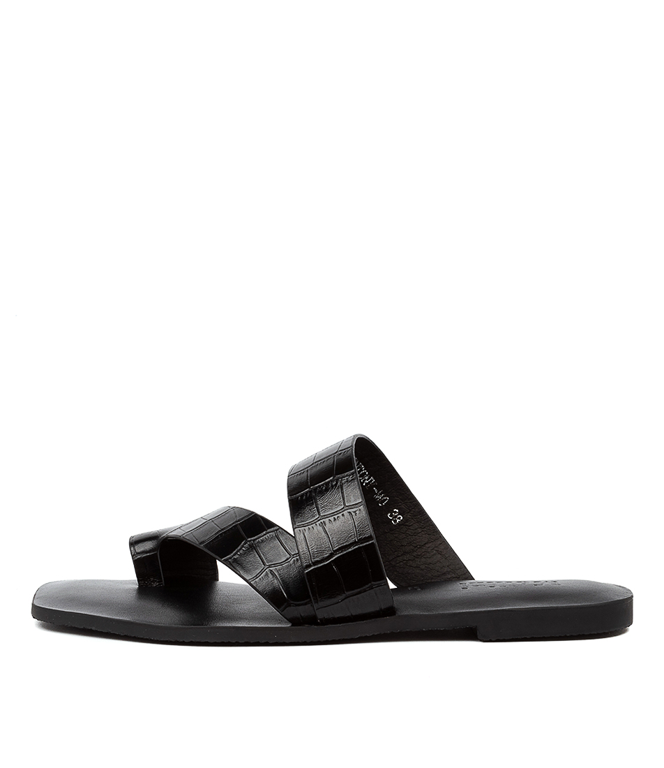 Buy Mollini Entony Mo Black Flat Sandals online with free shipping