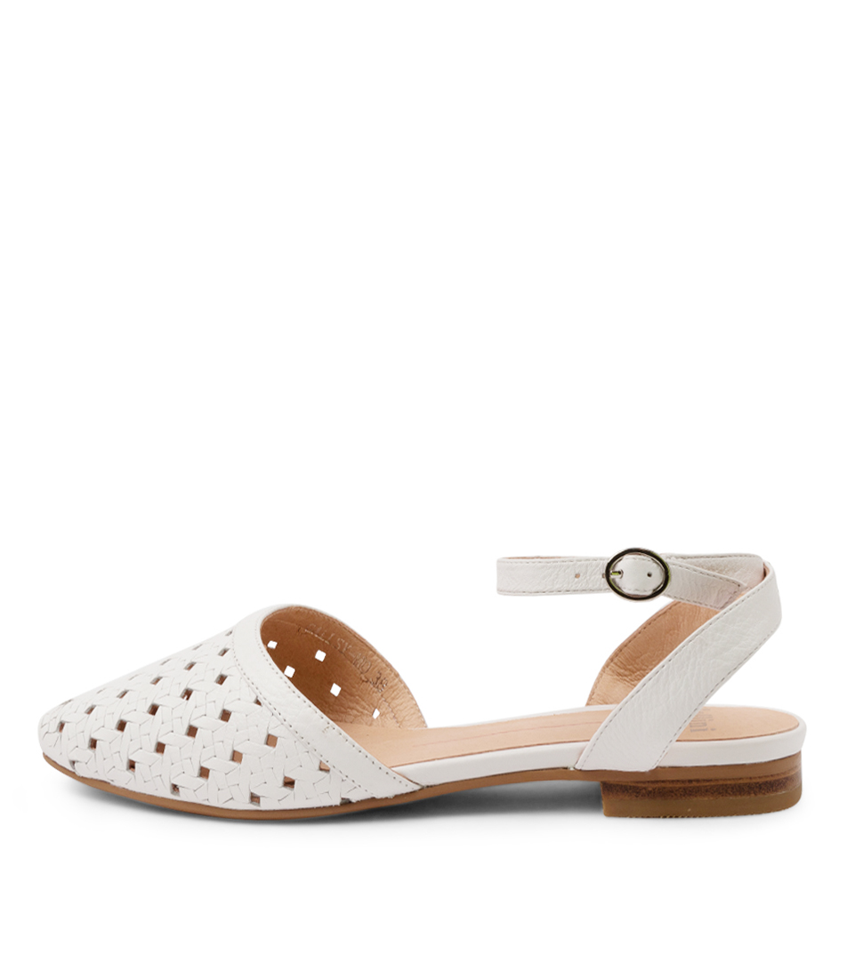 Buy Mollini Gallsy Mo White Flats online with free shipping