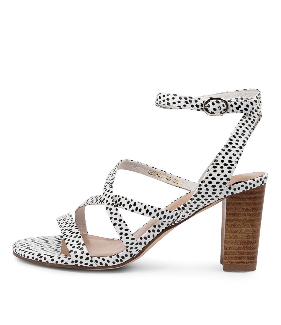 Buy Mollini Georgi Mo Black & White Spo Heeled Sandals online with free shipping