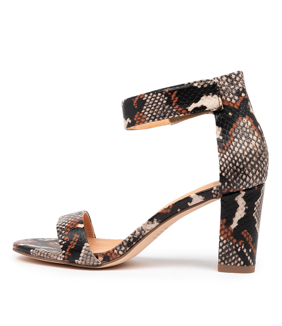 Buy Mollini Gloret Mo Tan Multi Heeled Sandals online with free shipping